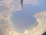 An Island from a flight from Chania to Athens