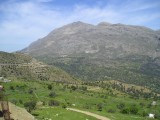 Mountains at middle south Crete